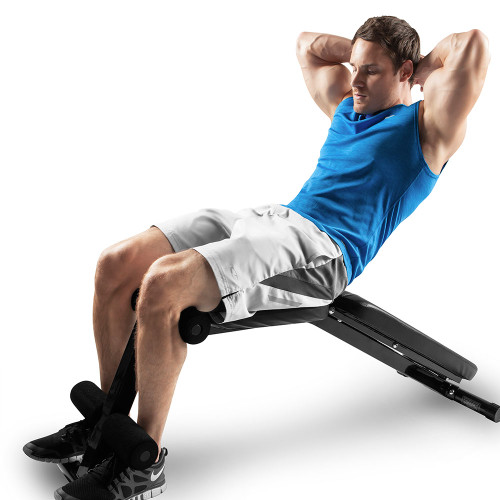 Multi-Utility Weight Bench SB-10115 by Marcy being used for declined sit-ups