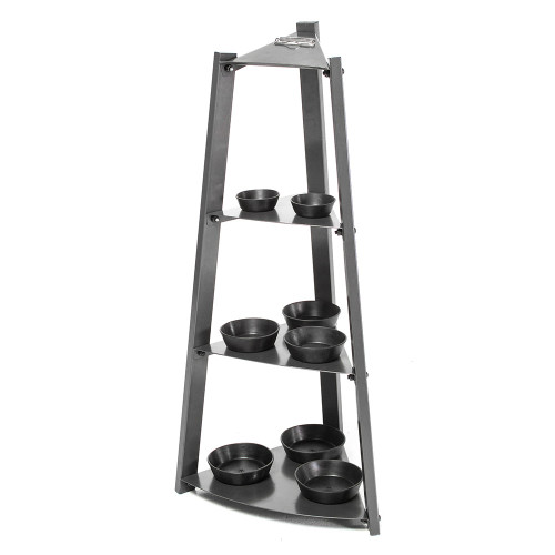 The Apex 3 Tier Kettlebell Rack VKBS-1N includes trays to prevent your kettlebell from sliding