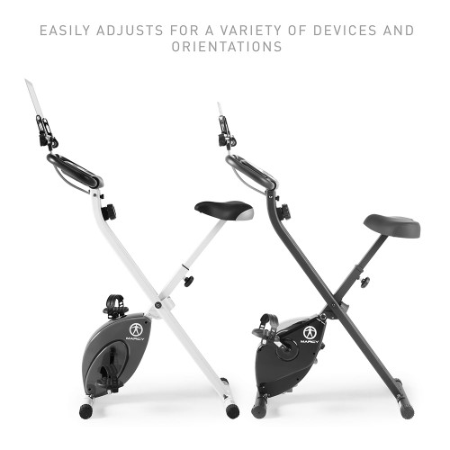 Easily adjust the Foldable Bike Media Holder | Marcy NS-T-Rack to fit your media