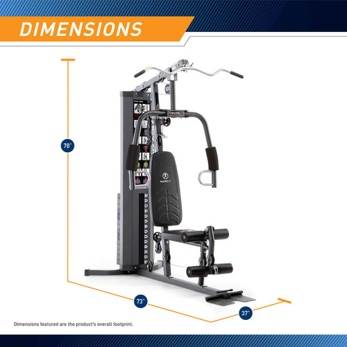 MWM-4965 - Marcy 150lb Stack Home Gym - Dimensions