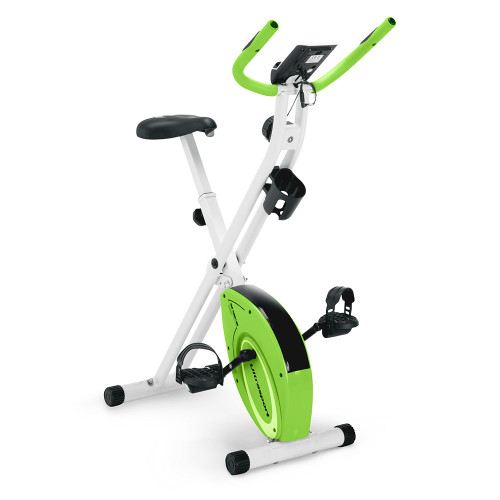 Marcy Foldable Upright Exercise Bike with Adjustable Resistance in Multiple Colors - NS-5926B - Product Shot - Green