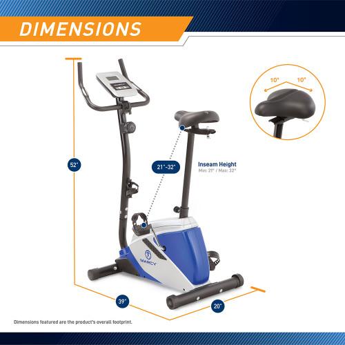 marcy magnetic upright bike ME-1016U - Dimensions