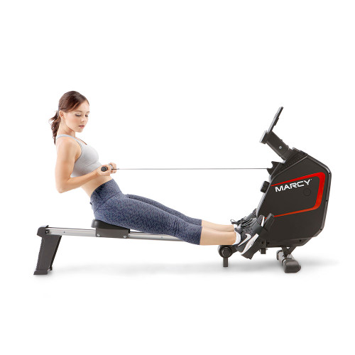 marcy foldable regenerating rowing machine  -NS-6002RE in use by model