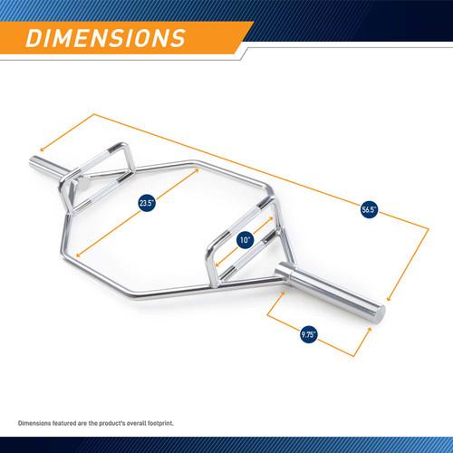 Olympic Hex Trap Bar SteelBody HTB-6921 dimensions