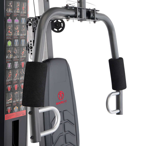 The Marcy 150 lb. Stack Home Gym MWM-1005 includes padded butterfly arms to target your pecs