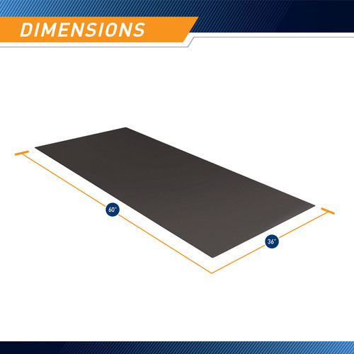 Fitness Equipment Mat and Floor Protector for Treadmills  - Marcy MAT-365 - Infographic - Dimensions