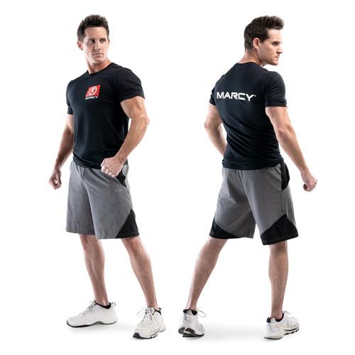 Marcy Box Logo T-Shirt - Black - Medium - Male Model