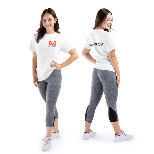 Marcy Box Logo T-Shirt - White - Small - Female Model