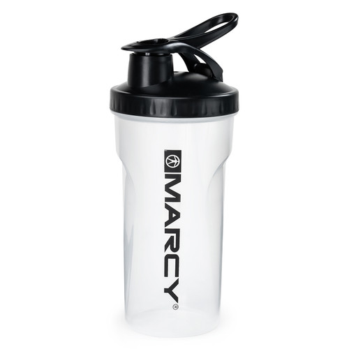 Marcy Non-Spill Shaker Bottle - Clear with Black Lid- MSB-CBL - Assembled