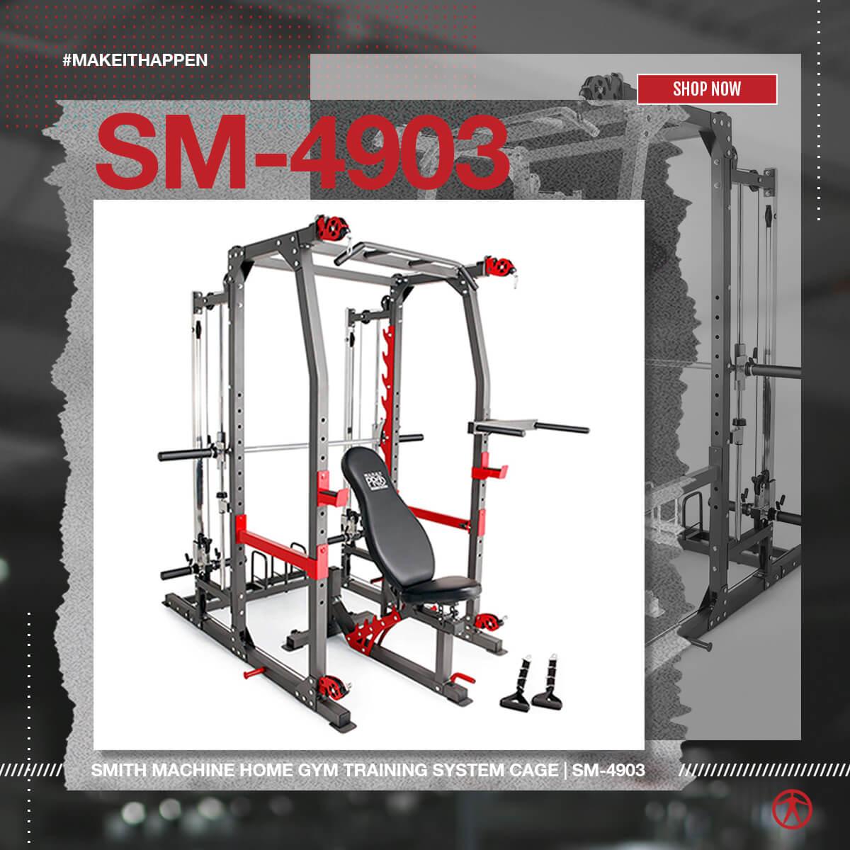 SM-4903 Smith Machine Cage System Home Gym