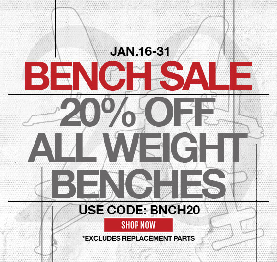 20% Off Bench Sale