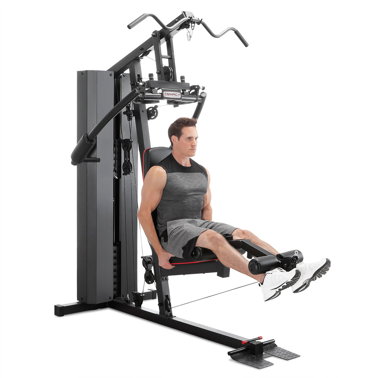 The Marcy Club 200 Lb Home Gym MKM-81010 has a leg developer to deliver a full body workout