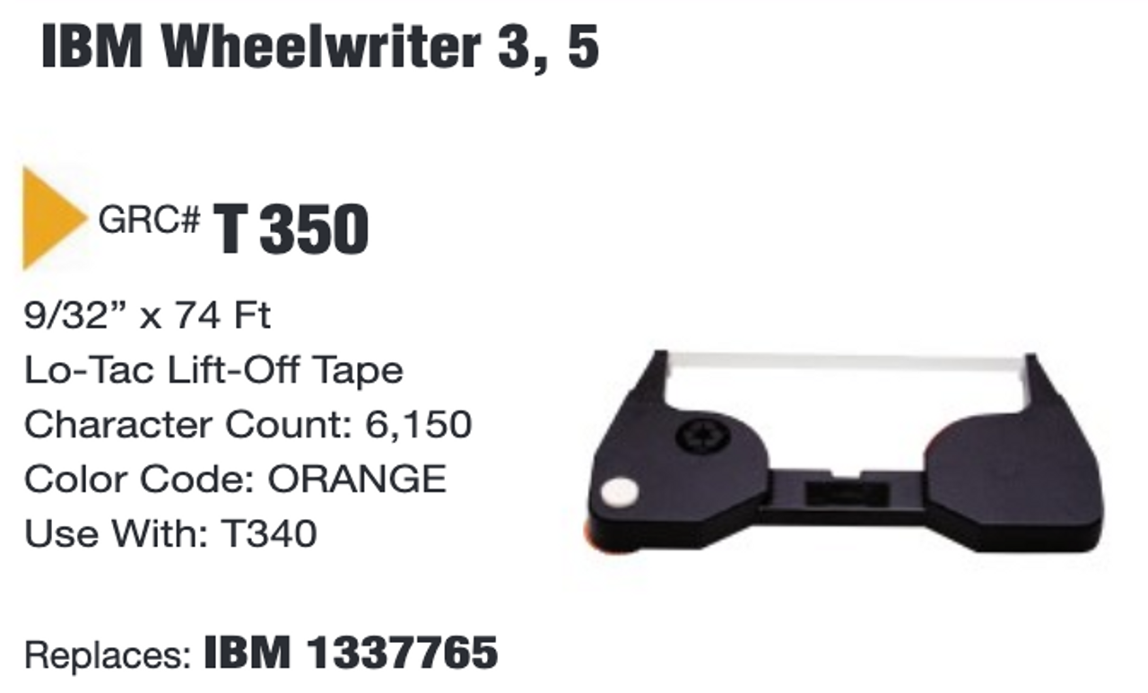 6 IBM WHEELWRITER ll  Lift Off Tape Cartridges Compatible 1337765