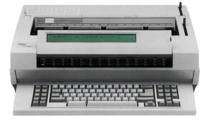IBM Lexmark Wheelwriter 3500 Electric Typewriter 60k Storage (Reconditioned) (Front View)