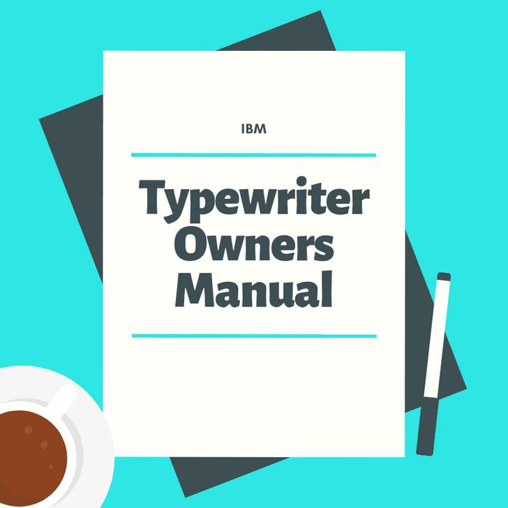 IBM Wheelwriter 2000 Manual