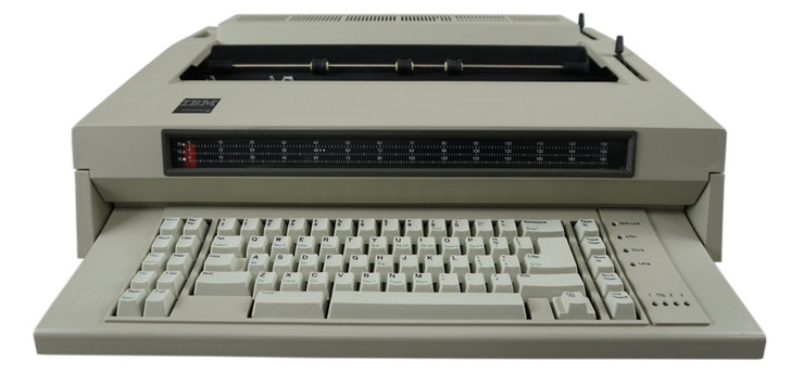 IBM Lexmark Wheelwriter 6 Electric Typewriter (Front View)