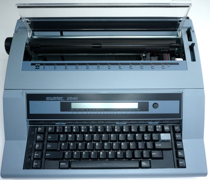 Swintec 2640i Electronic Typewriter With Liquid Crystal Display & 128K Storage Memory (Front View)