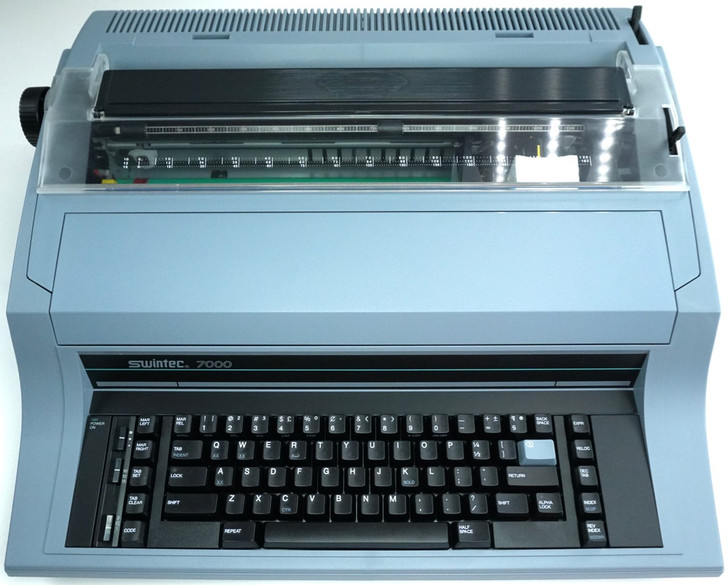 Swintec 7000 Heavy Duty Electronic Typewriter (Front View)