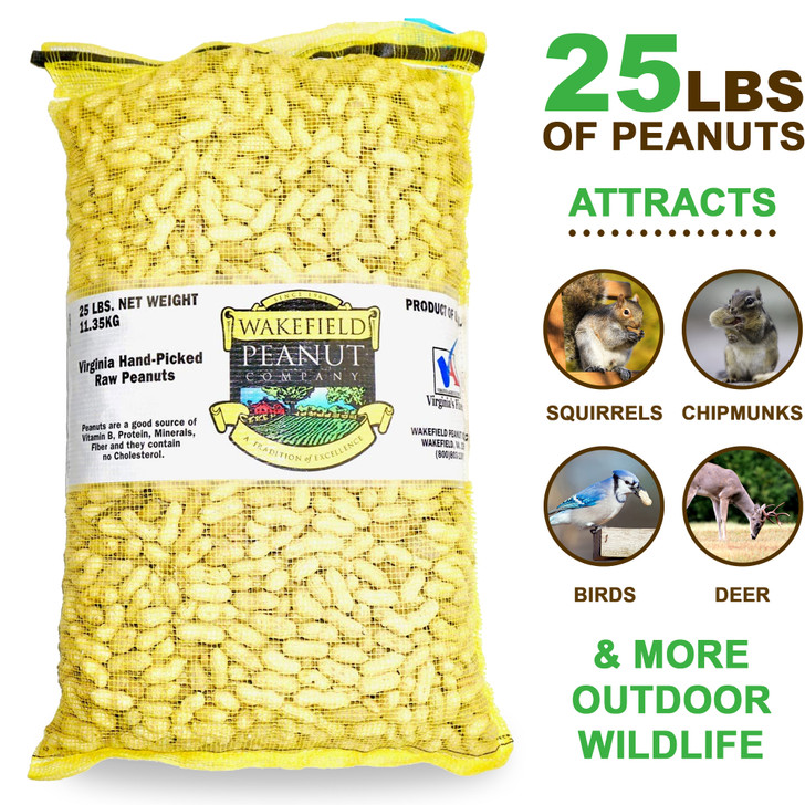 Virginia Peanuts Inshell Animal Peanuts, 25 lbs