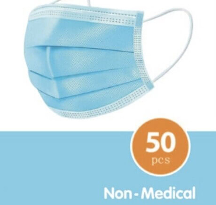 50-Pack of disposable face masks