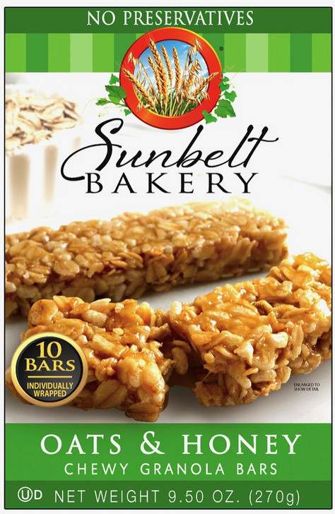 Sunbelt Bakery Oat and Honey Chewy Granola Bars