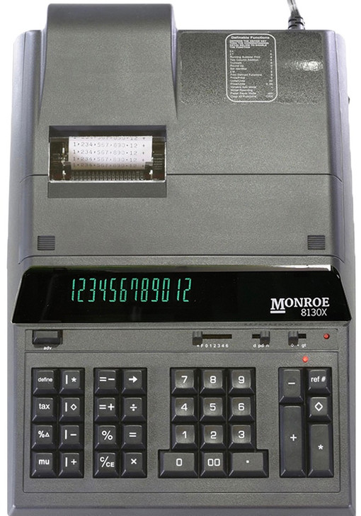 Monroe 8130X 12-Digit Basic Function Heavy Duty Accounting Printing Calculator