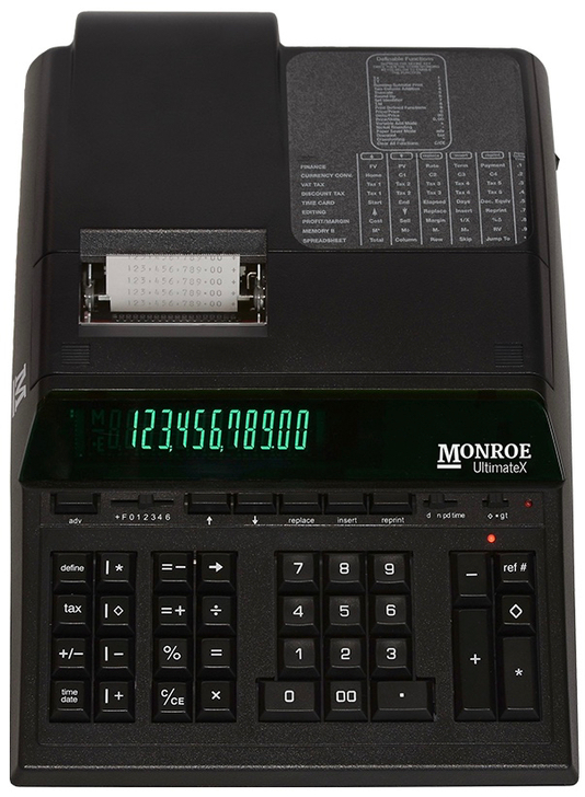 Monroe UltimateX 12-Digit Programmable Heavy-Duty Accounting Printing Calculator With Edit/Reprint Capabilities