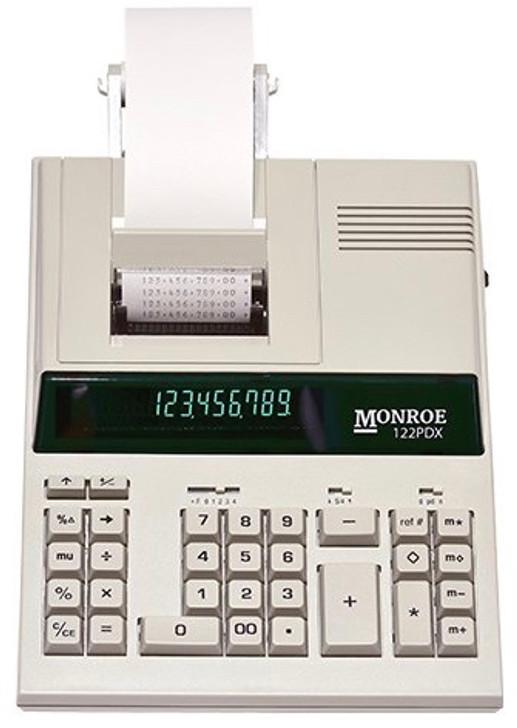 Monroe 122PDX 12-Digit Medium-Duty Accounting Printing Calculator With Fast Printing