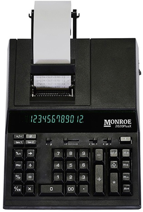 Monroe 2020PlusX 12-Digit Medium-Duty Accounting Desktop Printing Calculator With Large Display