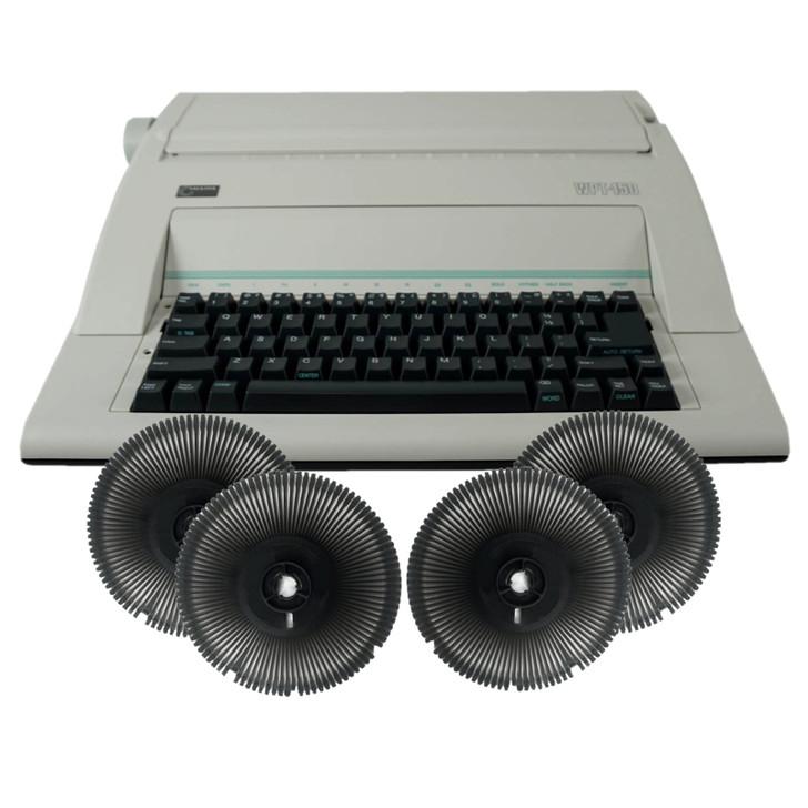 Nakajima WPT-150 Electronic Typewriter and Printwheel Bundle in Spanish