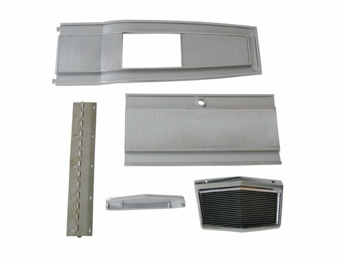 131-6SET Mopar 1966-70 B-body 4 Speed Console Plate Kit