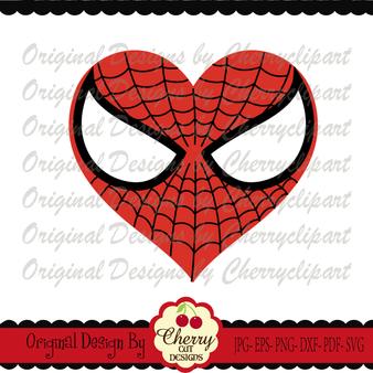 Spiderman inspired heart for boys
