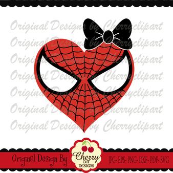 Spiderman inspired heart for girls