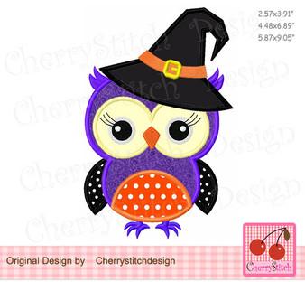 Halloween witch owl