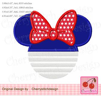JULY0049 July 4th Minnie