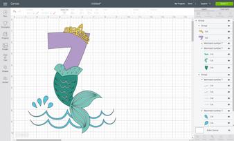 BIR79 Mermaid number 7_Cricut