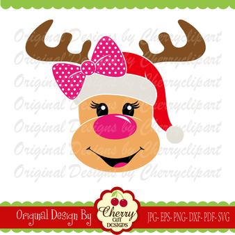 CHSVG127 Christmas reindeer girl