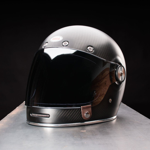 1bab21f1 ... Bell Bullitt Carbon Matte Black Helmet with Flat Silver Iridium Shield  ...