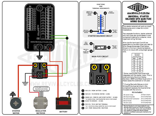 wiring diagram for universal starter solenoid with main fuse