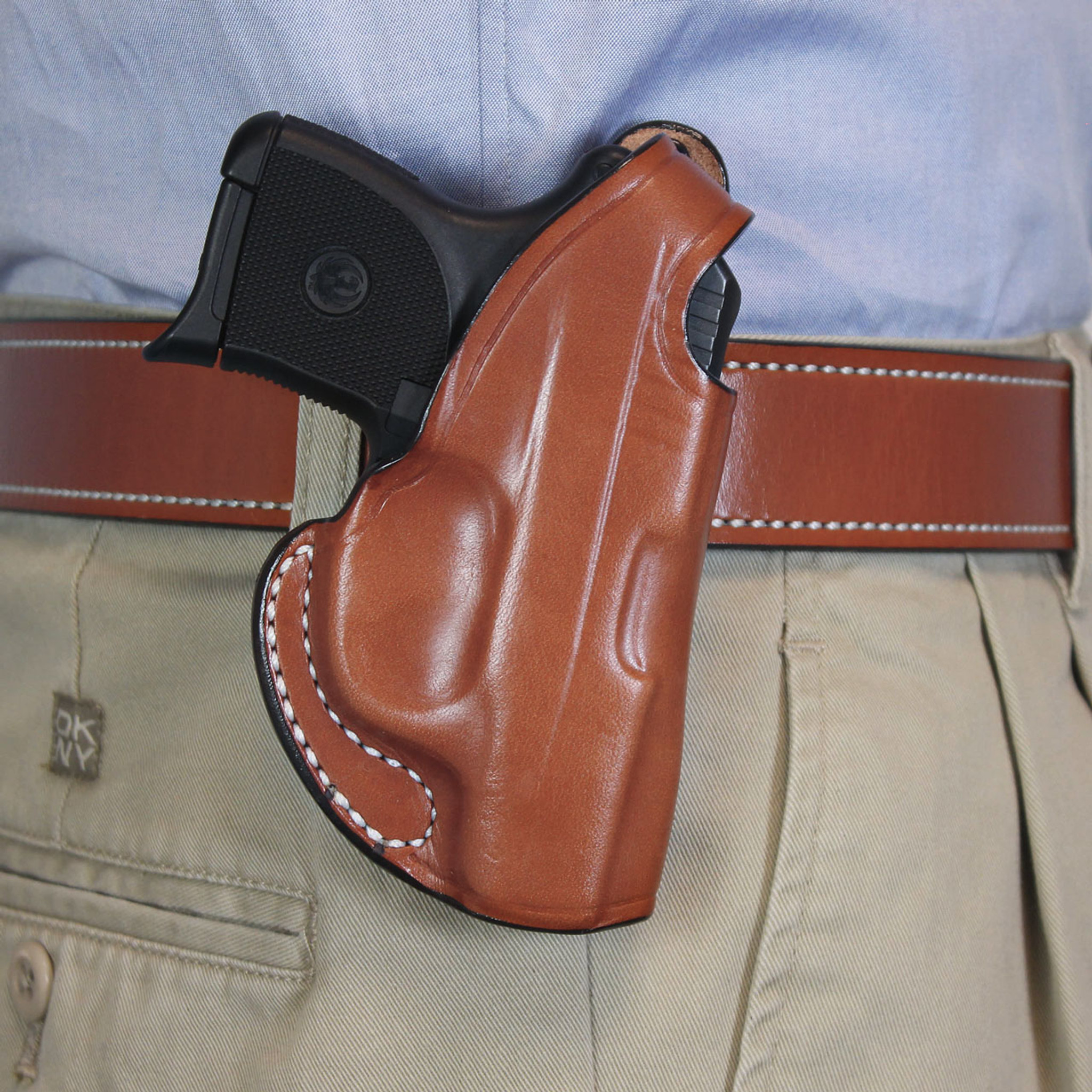 Ruger LCP LaserMax   paddle holster leather black