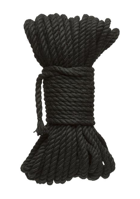 Henneptouw zwart 15 meter 6mm diameter