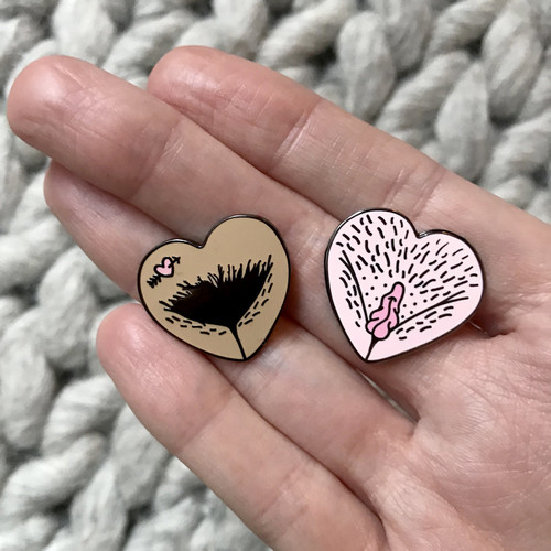 Vulva Gallery pins