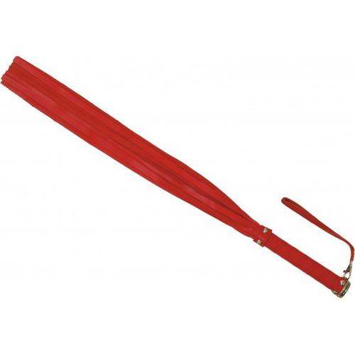 Flogger in rood leder 10 riemen