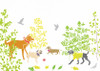 Dogs in the Park Art Print (Various Sizes)