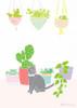 Cat & Cactus Art Print (Various Sizes)