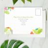 tropical beach wedding rsvp card address side