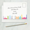 London wedding rsvp card address side