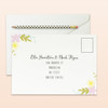 wreath floral wedding rsvp cards address side
