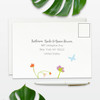 floral inspired wedding rsvp card address side