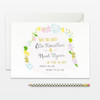wreath floral wedding boho save the date cards